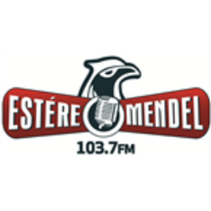 XHMR-FM - Image: XHMR Estere Mendel 103.7 logo
