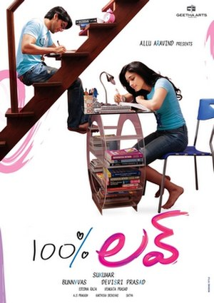 100% Love (2011 film) - Movie Poster