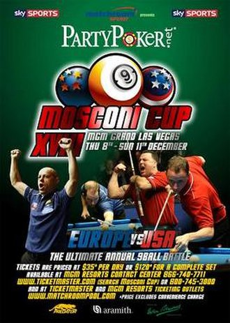 2011 Mosconi Cup - Image: 2011 Mosconi Cup Poster