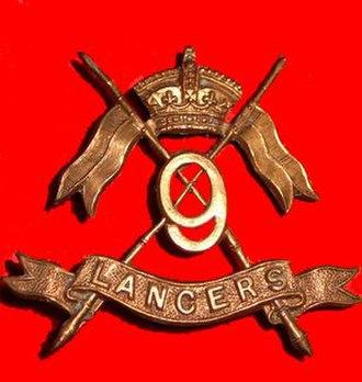9th Queen's Royal Lancers - Regimental Badge