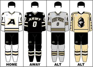 Army Black Knights men's ice hockey - Image: AHA Uniform USMA