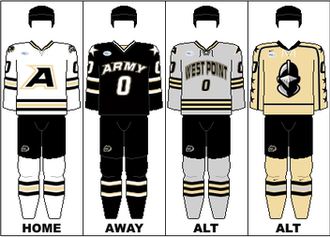 Army Black Knights men's ice hockey - Image: AHA Uniform USMA
