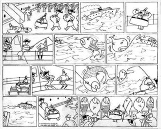 The Ambassador (comic strip) - A 13-panel, black-and-white installment of Otto Soglow's comic strip The Ambassador.