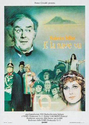 And the Ship Sails On - Italian release poster