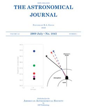 The Astronomical Journal - Image: Astronomical Journal Cover