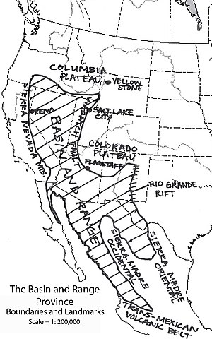 Basin and Range Province - One of various geographical definitions of the Province