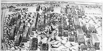 Francis Vere - Battle of Nieuwpoort, 1600. From The commentaries of Sr. Francis Vere