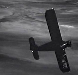 """The Bride Came C.O.D. - The Bellanca F Rocket used in the film as Cagney's """"kidnapping"""" aircraft"""