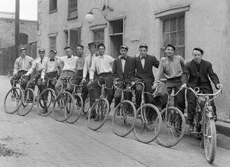 Bicycle messenger - Bicycle messenger boys, Salt Lake City, 1912
