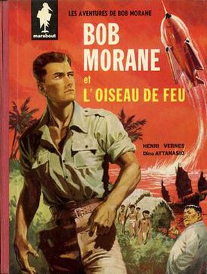 Bob Morane - Cover of L'oiseau de feu (1960) by Attanasio