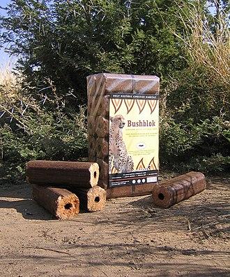 Cheetah Conservation Fund - Eco-friendly BushBlok logs help combat bush encroachment, restoring cheetah habitat.