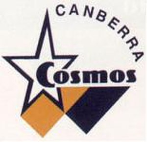 Canberra Cosmos FC -  The original Canberra Cosmos logo for the 1995/96 season.
