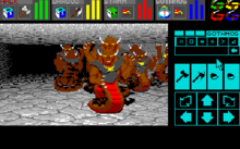 Screenshot of Dungeon Master: Chaos Strikes Back.