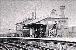 Coedpoeth Station, 1900