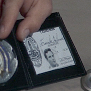 "Columbo (character) - Columbo's LAPD ID card and badge with the name Frank Columbo in the episode ""Dead Weight""."