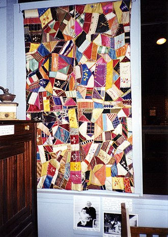 Crazy quilting - Crazy quilt by Granny Irwin, Museum of Appalachia, Norris, Tennessee