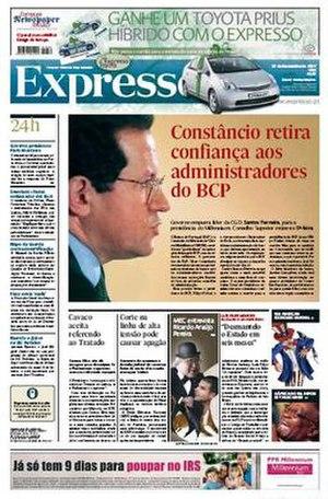 Expresso (newspaper) - Image: Expresso 20071222