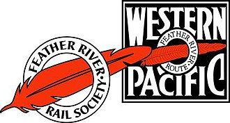 Western Pacific Railroad Museum - Logos of the Western Pacific Railroad and the Feather River Rail Society, operators of the Western Pacific Railroad Museum.