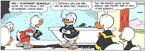 "Flintheart Glomgold - Flintheart Glomgold from Carl Barks' story ""The Second-Richest Duck""."