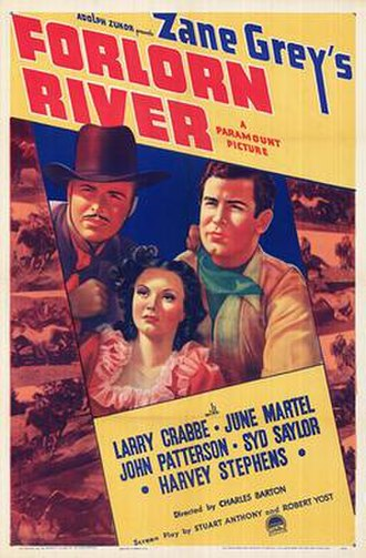 Forlorn River (1937 film) - Theatrical release poster