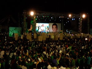 Gilbert Teodoro - Teodoro during his party's Grand Rally at Rizal Memorial Stadium in Manila.