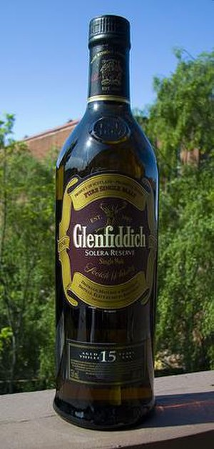 Glenfiddich - The Glenfiddich Solera Reserve 15 year single malt scotch whisky.