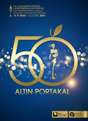 International Antalya Film Festival - 50th International Antalya Golden Orange Film Festival logo, October 2013.