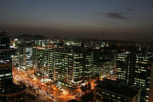 Guro District, Seoul - Night view of Guro Digital Complex.