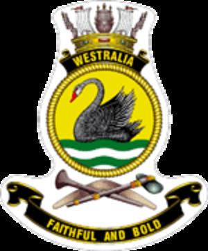 HMAS Westralia (O 195) - Ship's badge