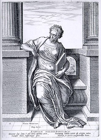 Hellespontine Sibyl - Montfoort's rendering of the Hellespontine Sibyl