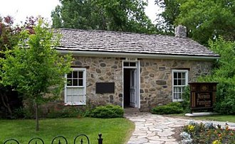 Pioneer Village (Utah) - Image: Historic Rock Building Mormon Furniture Exhibit