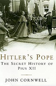 The cover of Hitler's Pope, showing Nuncio Pacelli leaving the residence of President Hindenburg in 1927.