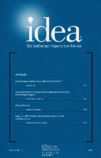 IDEA: The Intellectual Property Law Review - Image: IDEA IP Law Review