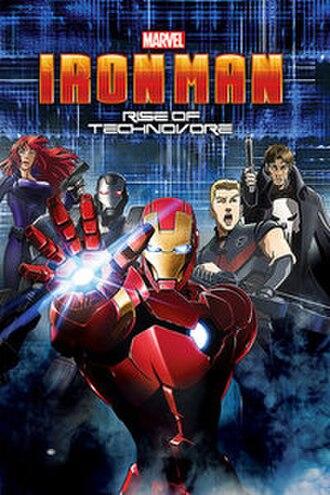 Iron Man: Rise of Technovore - DVD/Blu-ray cover art
