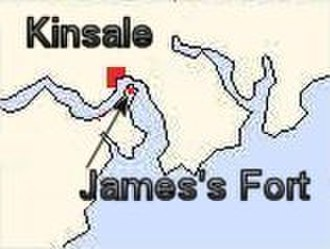 James's Fort - Map of James Fort in Kinsale harbour