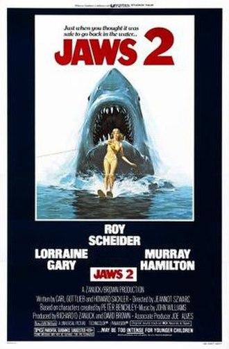 Jaws 2 - Theatrical release poster by Lou Feck