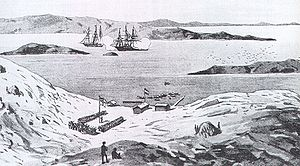 History of Namibia - Lüderitz in 1884.