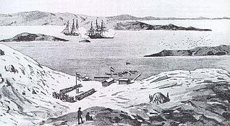 History of Namibia - Lüderitz in 1884.