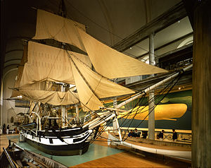New Bedford Whaling Museum - The Lagoda in the Bourne Building of the New Bedford Whaling Museum