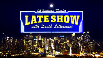Late Show with David Letterman - Title card used from 4/22/13 to 5/20/15   designed after the marquee outside of CBS Studio 50 at the time