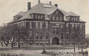 Collinwood school fire - Lake View School, Collinwood, Ohio as it appeared before March 4, 1908.