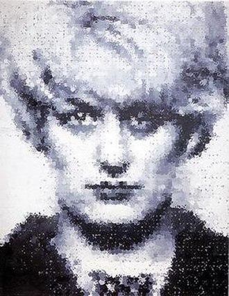 Sensation (art exhibition) - Myra: 1995 depiction of the child killer Myra Hindley by the YBA Marcus Harvey