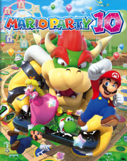 <i>Mario Party 10</i> 2015 party video game developed by NDcube
