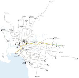 Melbourne tram route 109 - Image: Melbourne trams route 109 map