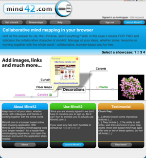 Mind42 - Image: Mind 42 Screenshot