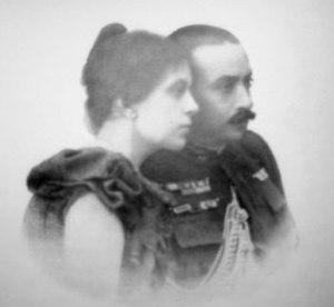Joaquim Augusto Mouzinho de Albuquerque - With his wife, 1898