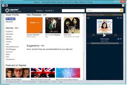 Anteprima di Napster versione 5.0 beta