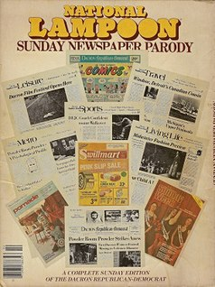 <i>National Lampoon Sunday Newspaper Parody</i> book by John Hughes