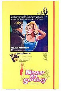 <i>Never on Sunday</i> 1960 film directed by Jules Dassin