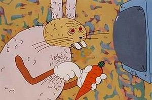 Priit Pärn - Screenshot from Night of the Carrots (1998).